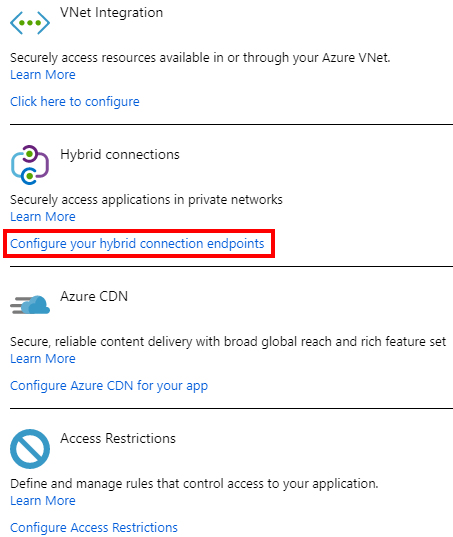 Azure App Service with On-premises Connection