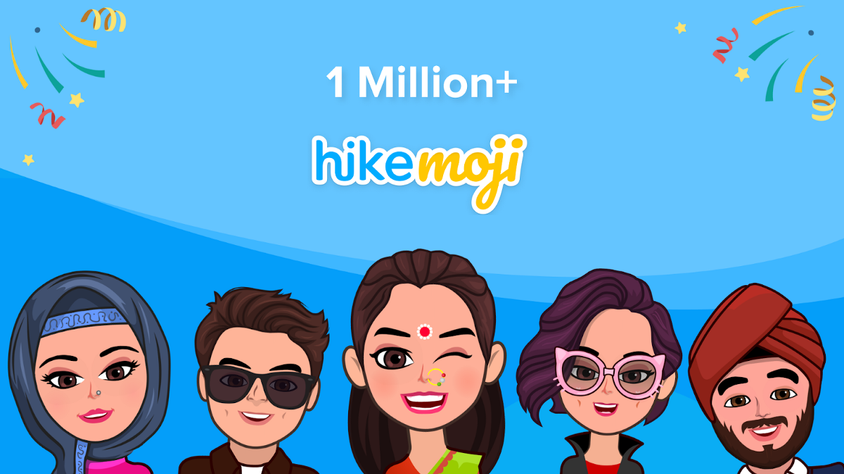 With 1 Million HikeMojis created in beta; Hike announces official roll-out with 1,200+ new…