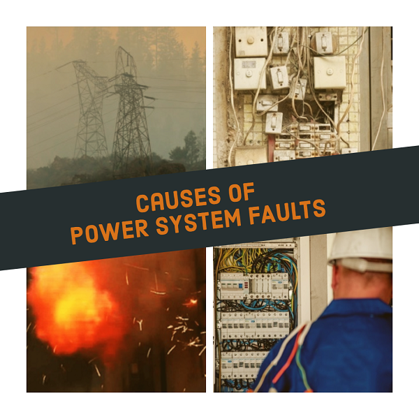 Causes of power system faults