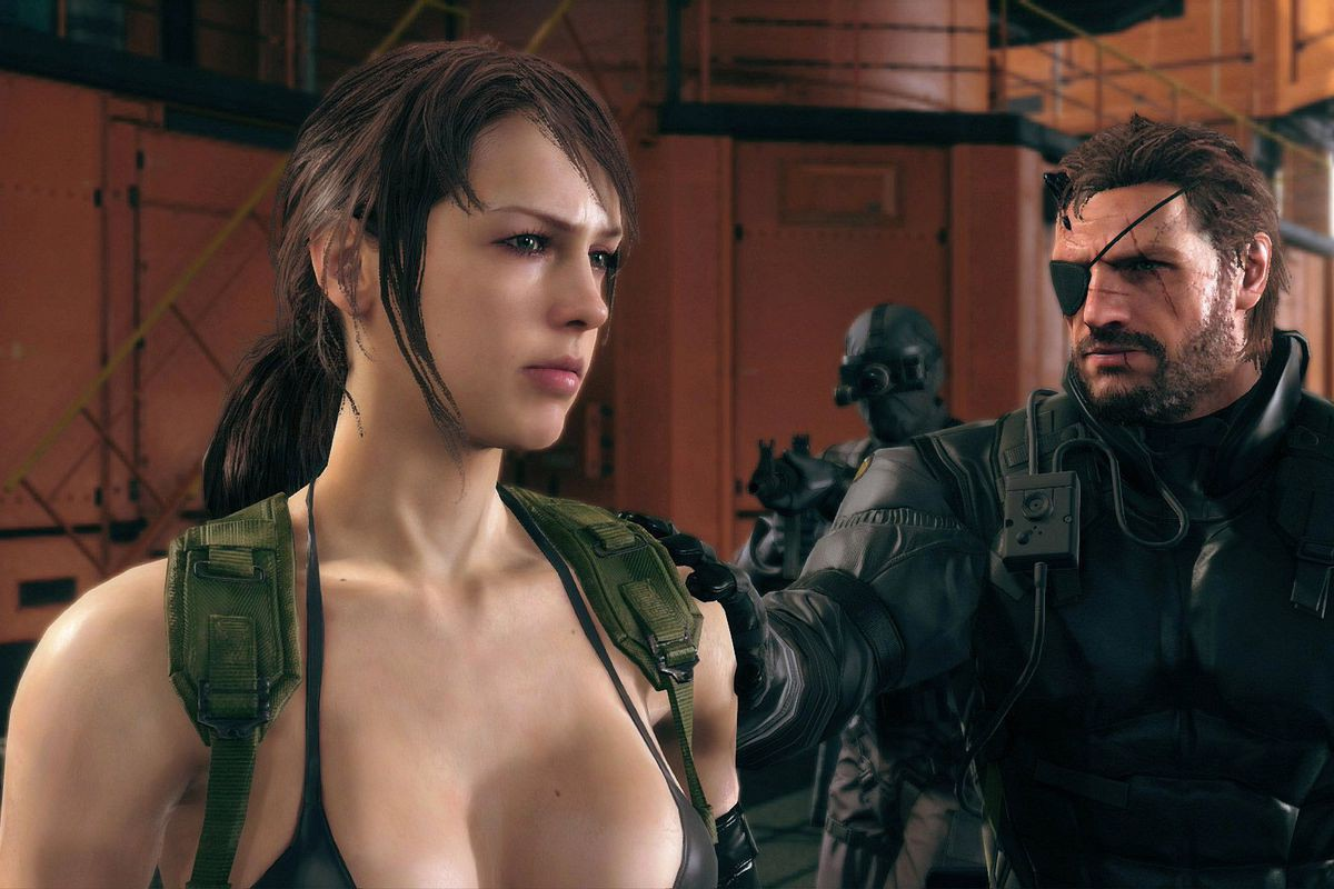 Snake with his hand on The Quiet's shoulder.