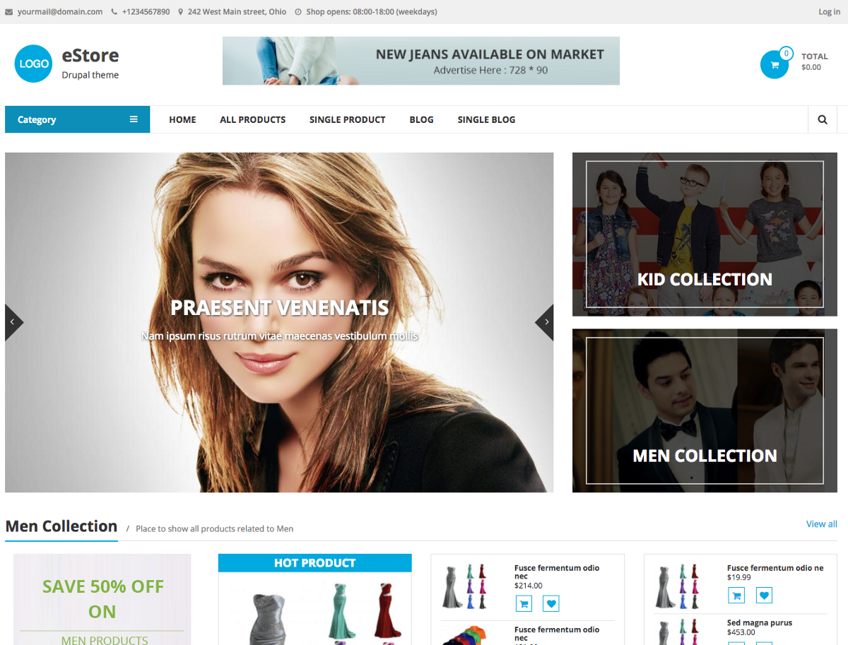 4 Free Drupal 8 Themes For Ecommerce Trending Right Now By Optasy Medium