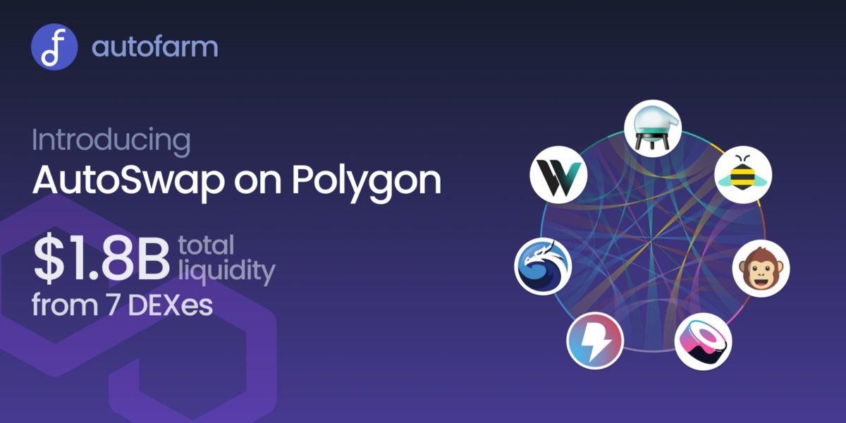 AutoSwap Now Aggregating Over $1.8B Liquidity on Polygon!