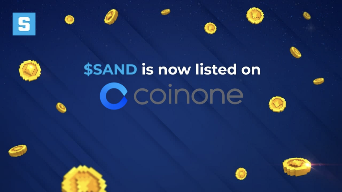 $SAND Lists on South Korean Virtual Asset Exchange Coinone