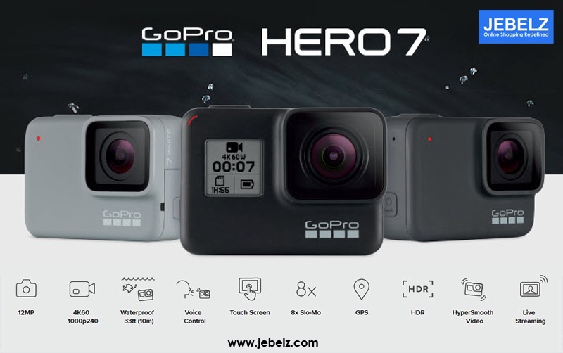 Know all about New GoPro Hero 7 : Specifications , New Features