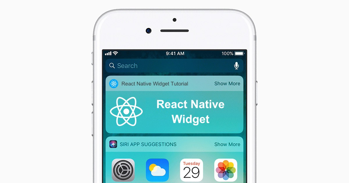 React Native How To Build A Home Screen Widget For Ios And