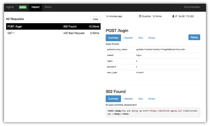 How to test an API running on localhost from outside localhost?