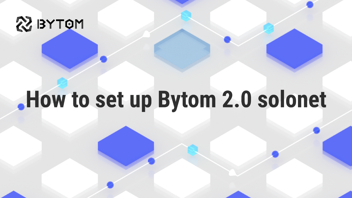 Instruction: How to Set up Bytom 2.0 Solonet