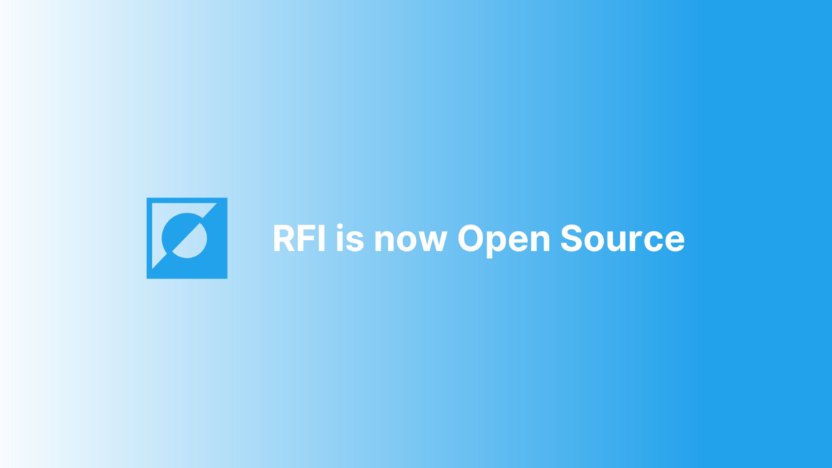 Open Sourcing RFI: This is the Way