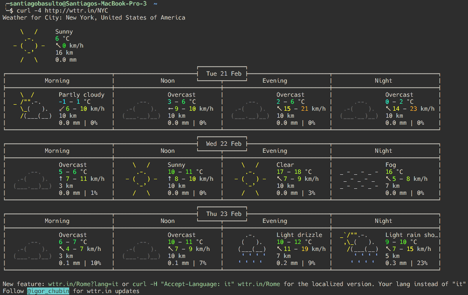 Beautiful Weather report in your Command Line - rmotr com