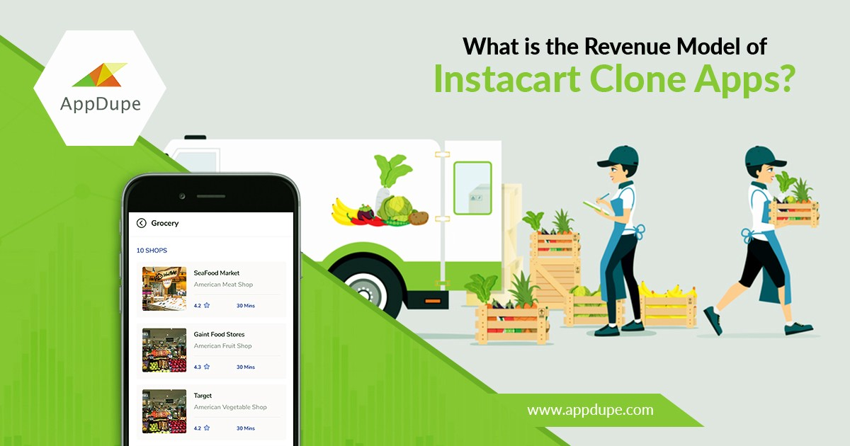 What is the revenue model of Instacart clone app? - Clone