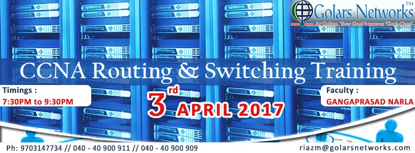 CCNA Routing and Switching Training in Hyderabad - Ravi