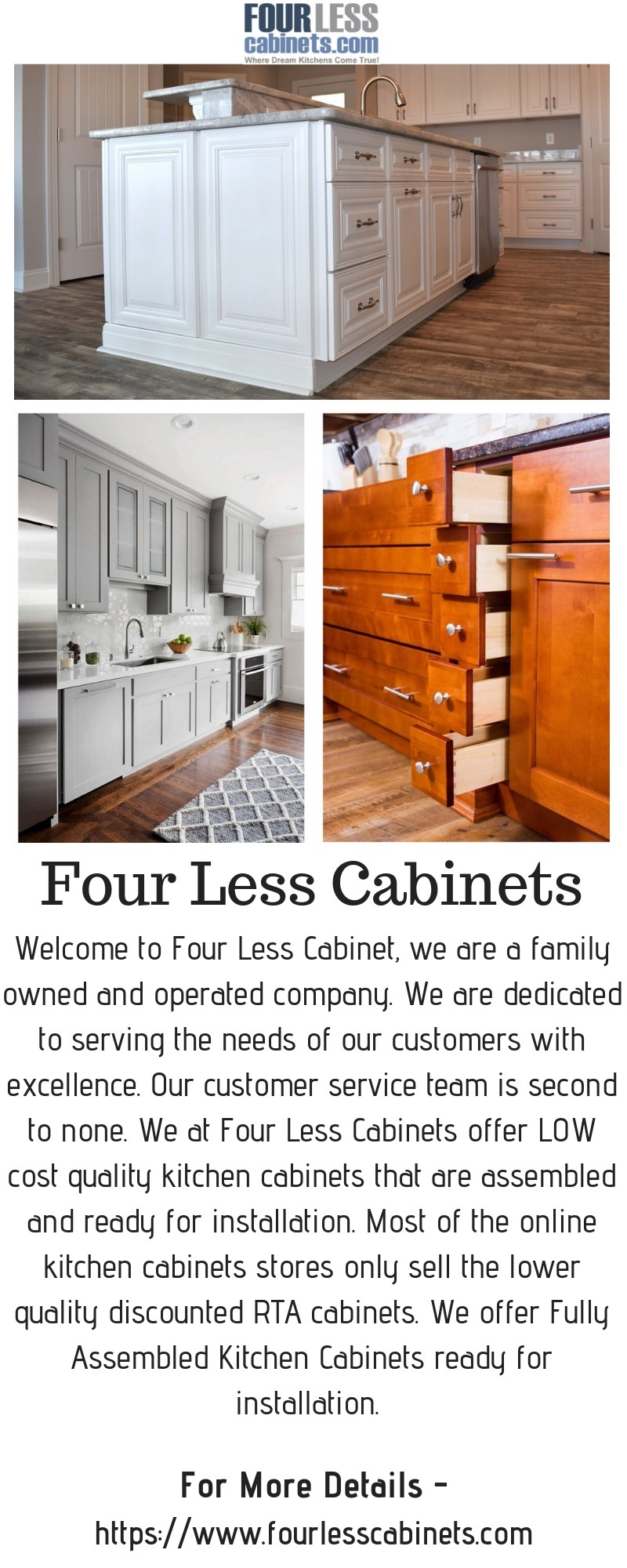 Gray Kitchen Cabinets — Four Less Cabinets - Four Less ...