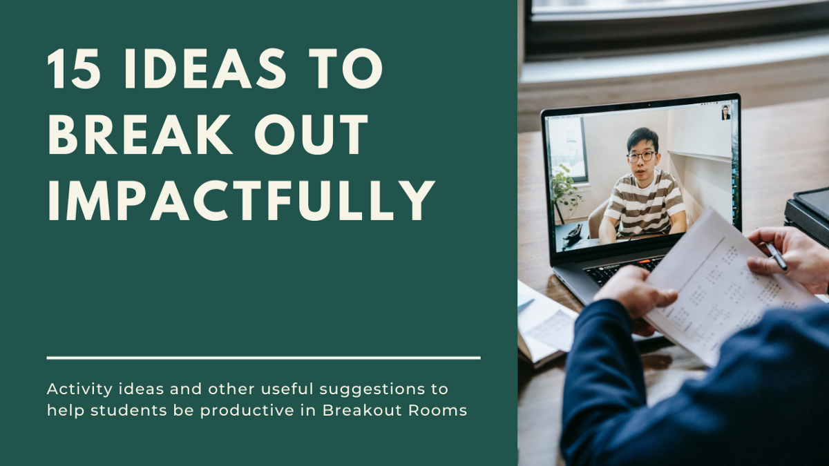 15 Breakout Room Activities Infographic By Acadly Acadly