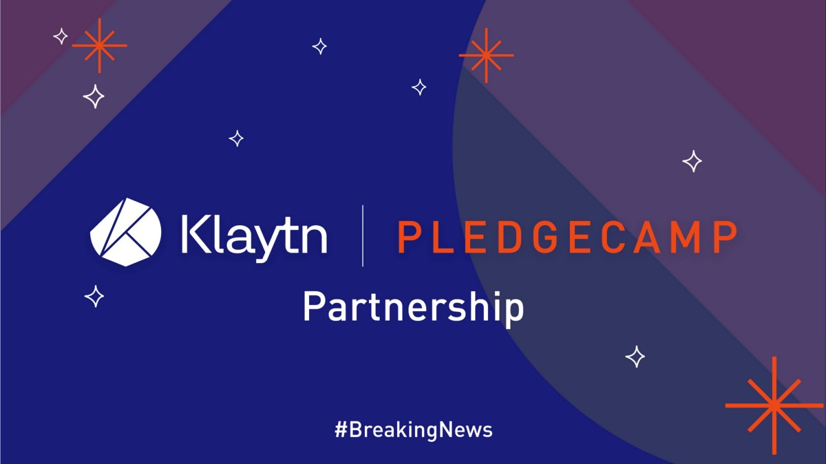 [Breaking News] Pledgecamp Selected as Initial Service Partner of <bold>Klaytn</bold>