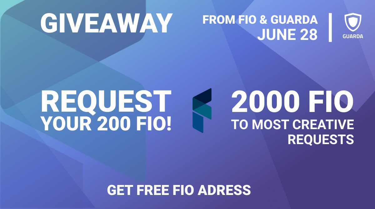 FIO Giveaway in Partnership with Guarda Wallet!