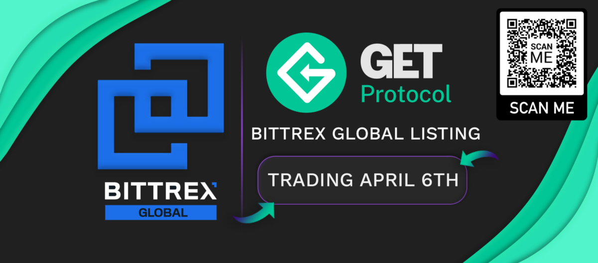 The GET token will be listed on Bittrex Global