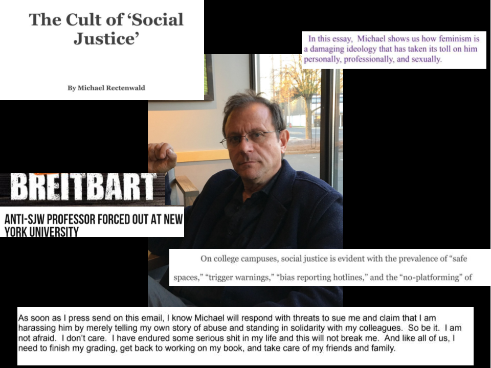Anti-PC' Professor Michael Rectenwald is Suing NYU and Four