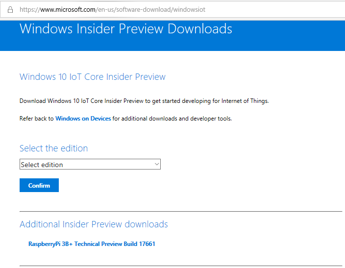 How to install Windows IoT Core on Raspberry Pi 3B+   and eventually