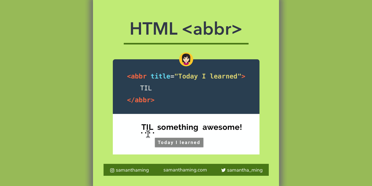 HTML abbr Tag: Default Styling