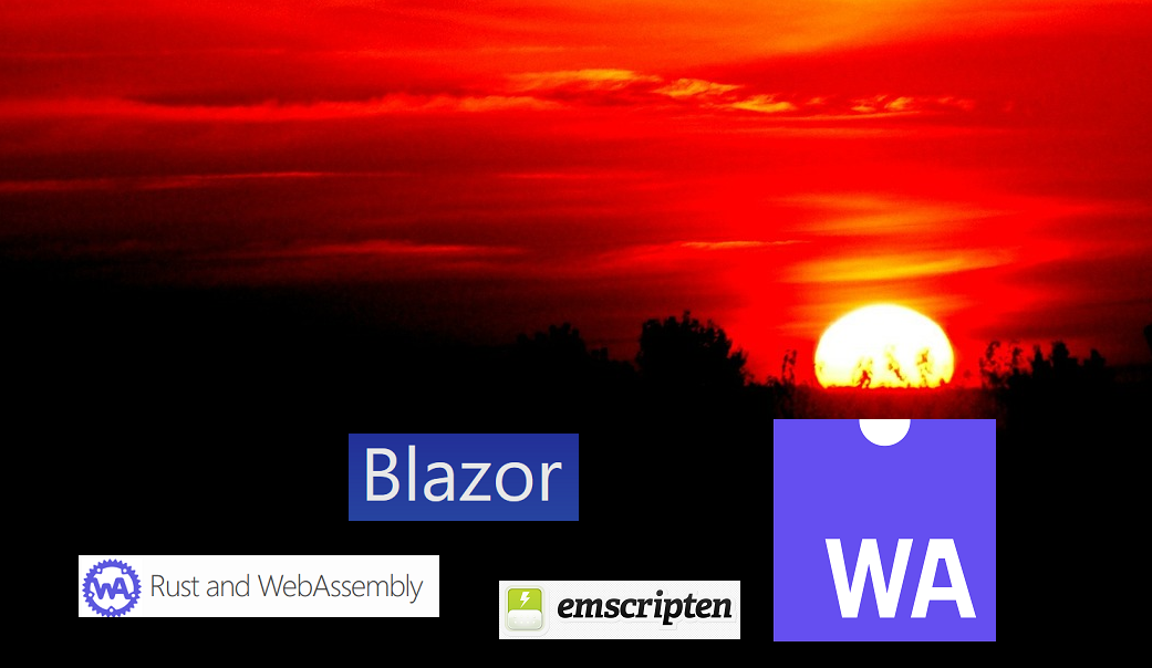 WebAssembly for front-end web development. Emscripten vs Rust vs Blazor.