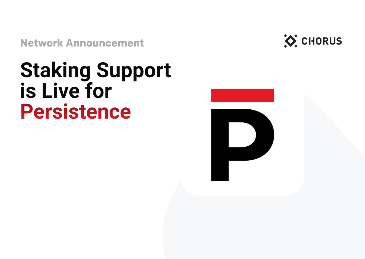 Staking Support is Live for Persistence