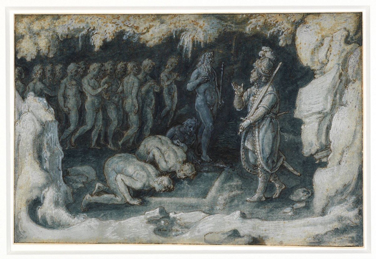 Ulysses at the Entrance of Hades  the Underworld   Johannes StradanusUnderworld From The Odyssey