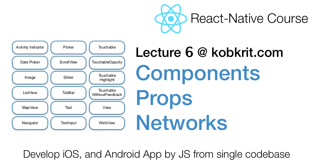 React Native 6] Components, Props, and Network By Making