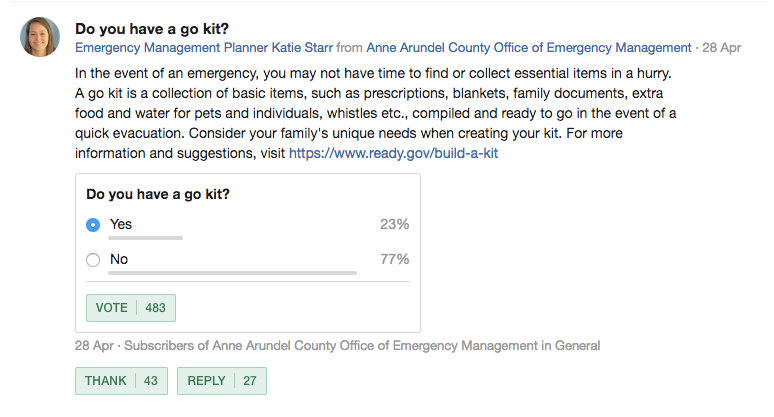 Using Nextdoor Polls to gather feedback from your residents on