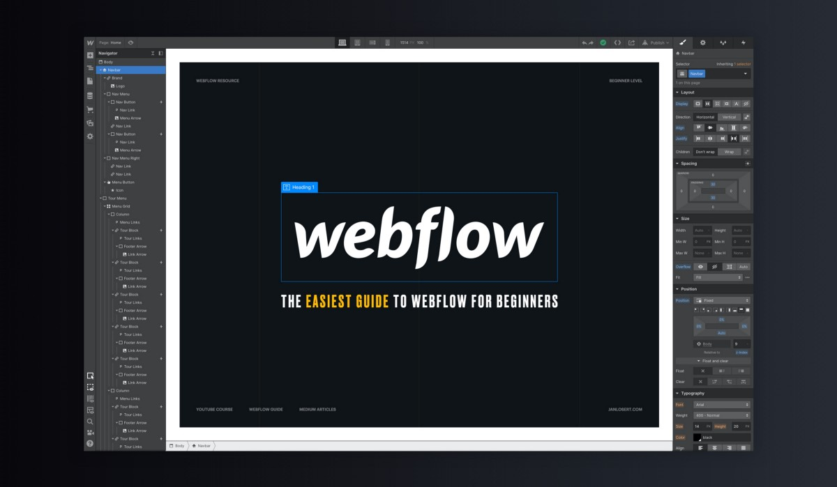 Webflow - The Easiest Guide for Beginners