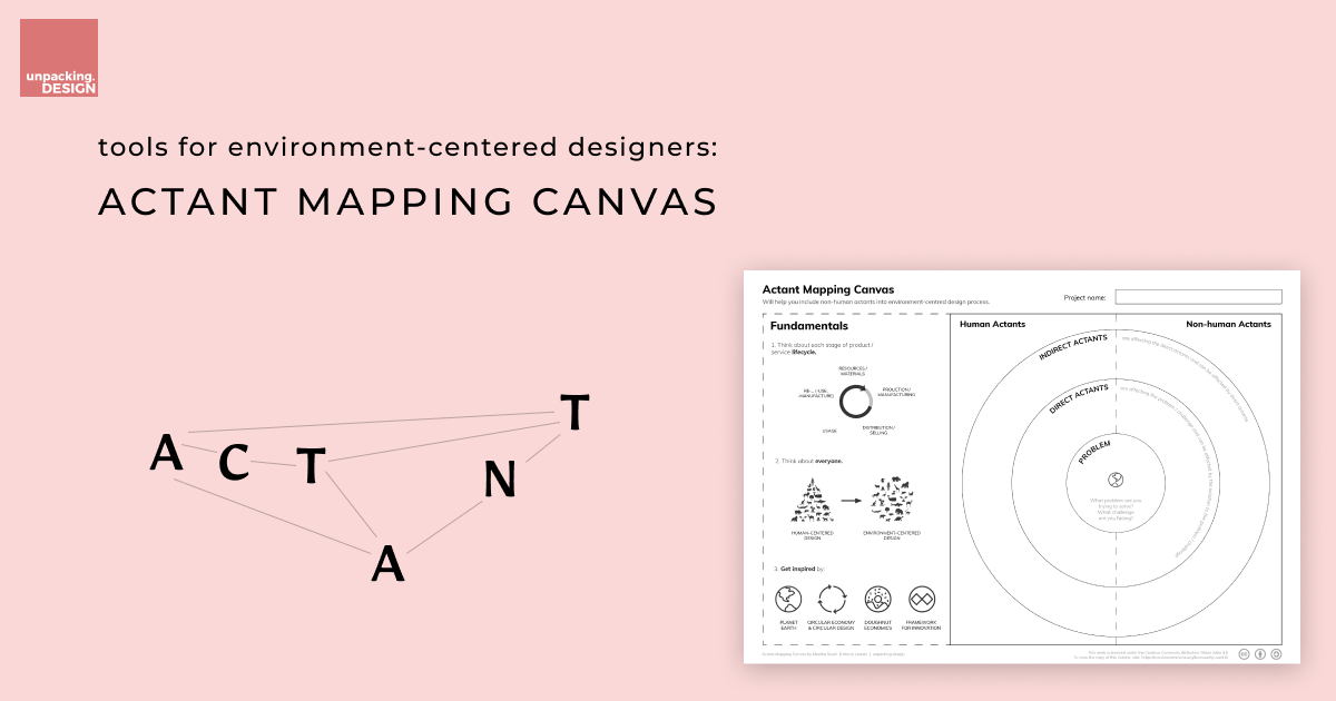 Tools for environment-centered designers: Actant Mapping Canvas