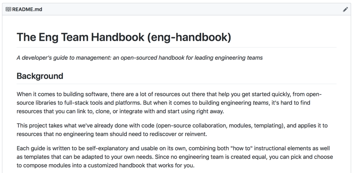 RFC: Eng Team Handbook—An open-sourced guide to leading