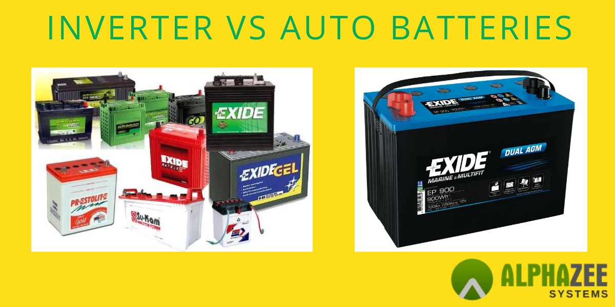 Difference Between Inverter Batteries And Auto Batteries