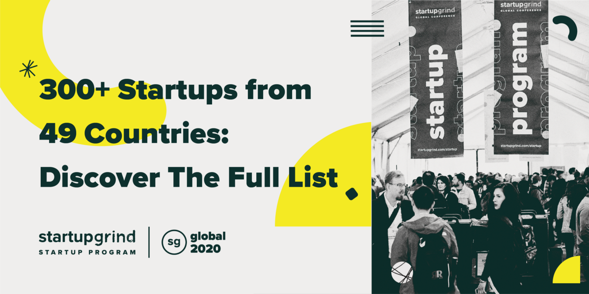 300+ Startups from 49 Countries Exhibiting at #SGGlobal 2020: Discover The Full List