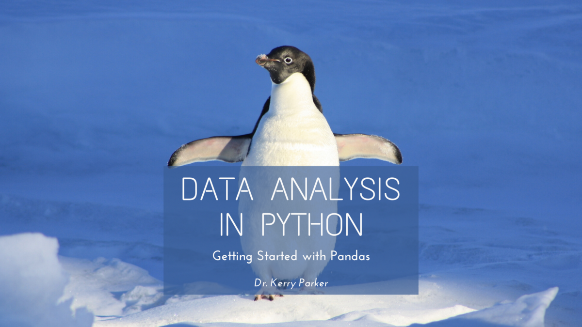 Data Analysis in python: Getting started with pandas