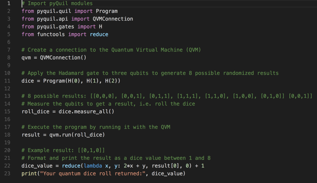 How to write a quantum program in 10 lines of code (for