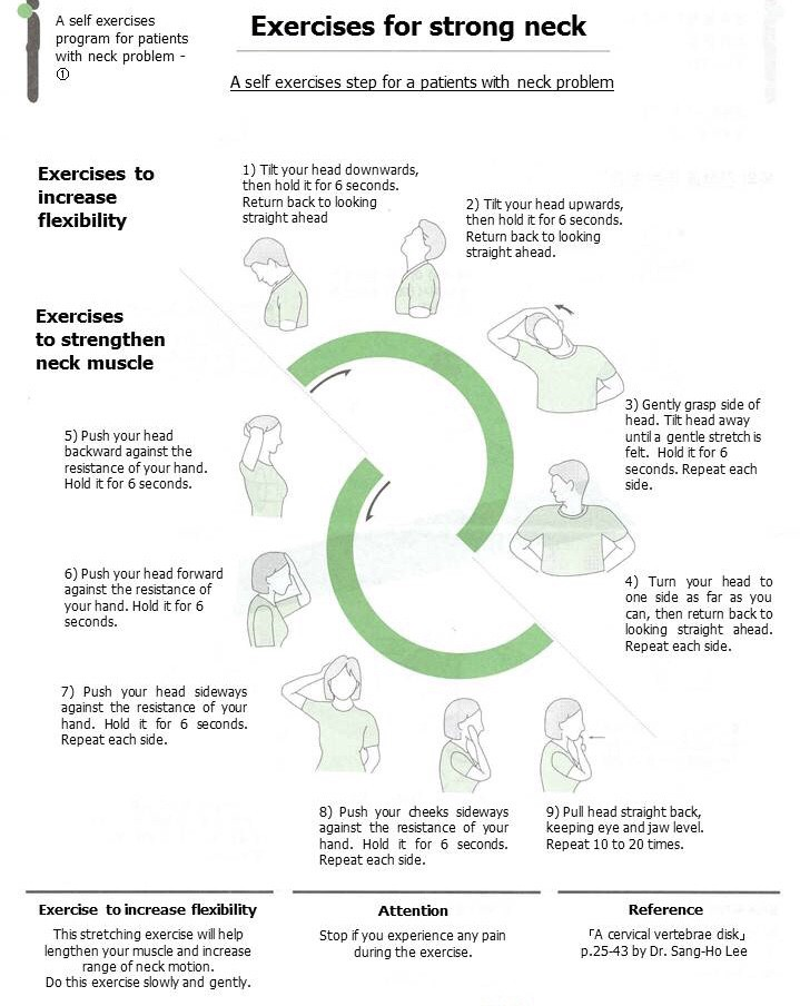 Home care exercise for neck pain can make the difference you