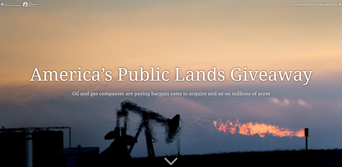 Story Map: America's Public Lands Giveaway