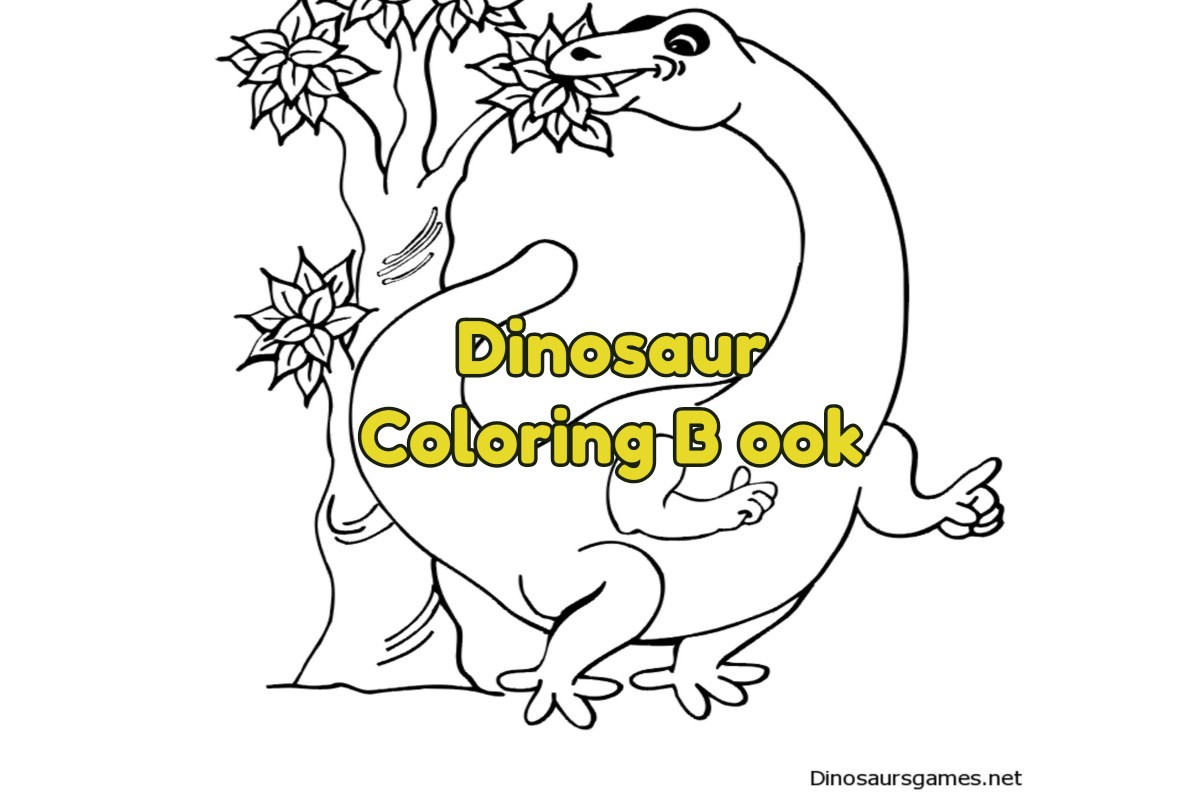 How to make a Dinosaur Coloring Book for children ...