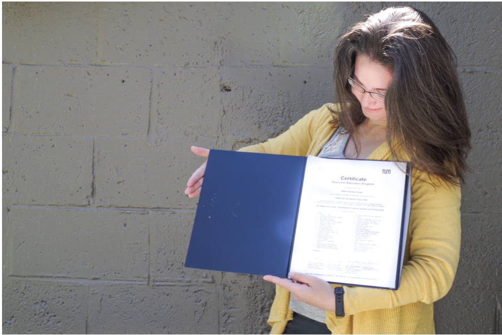 An Efficient Certificate: My Lean Six Sigma Yellow Belt Certification