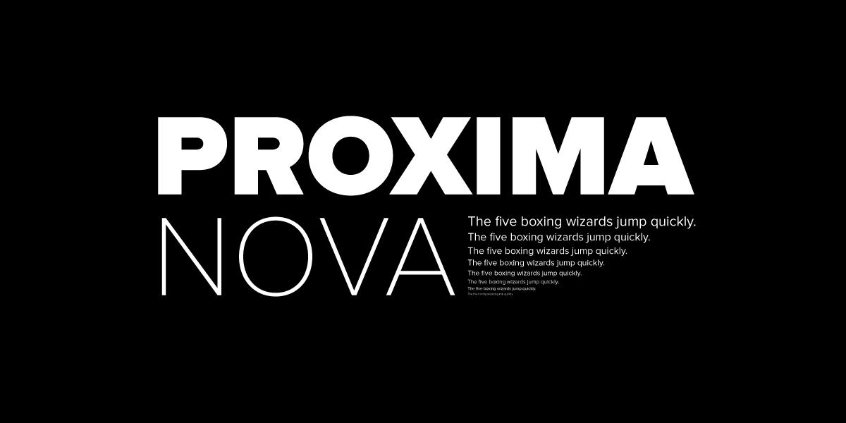Why Proxima Nova Is Everywhere A Quick Search On Font Reach Reveals By Tri Vo Mic Product Blog Medium
