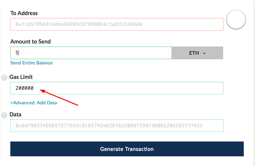 How to transfer ETH from MyEtherWallet to receive BDG tokens