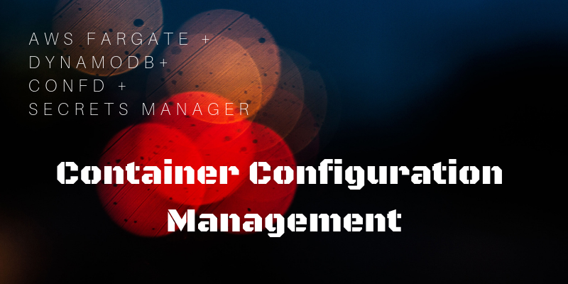 Configuration Management for Docker Containers running on