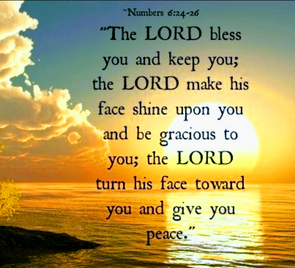 The Lord Bless Thee And Keep Thee The Lord Make His Face Shine Upon Thee And Be Gracious Unto By Keith Mcgivern Medium