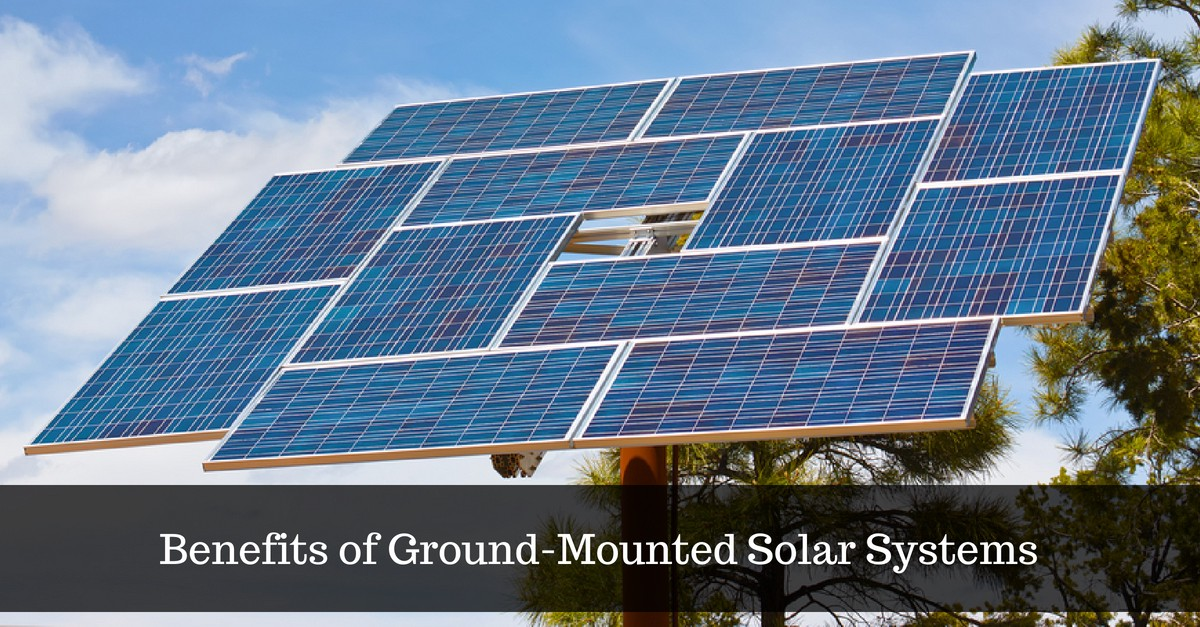 Various types of ground-mount solar racking systems