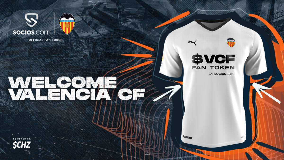 Valencia CF $VCF Fan Token To Take Front Of Shirt Space In World First As Club Joins Socios.com