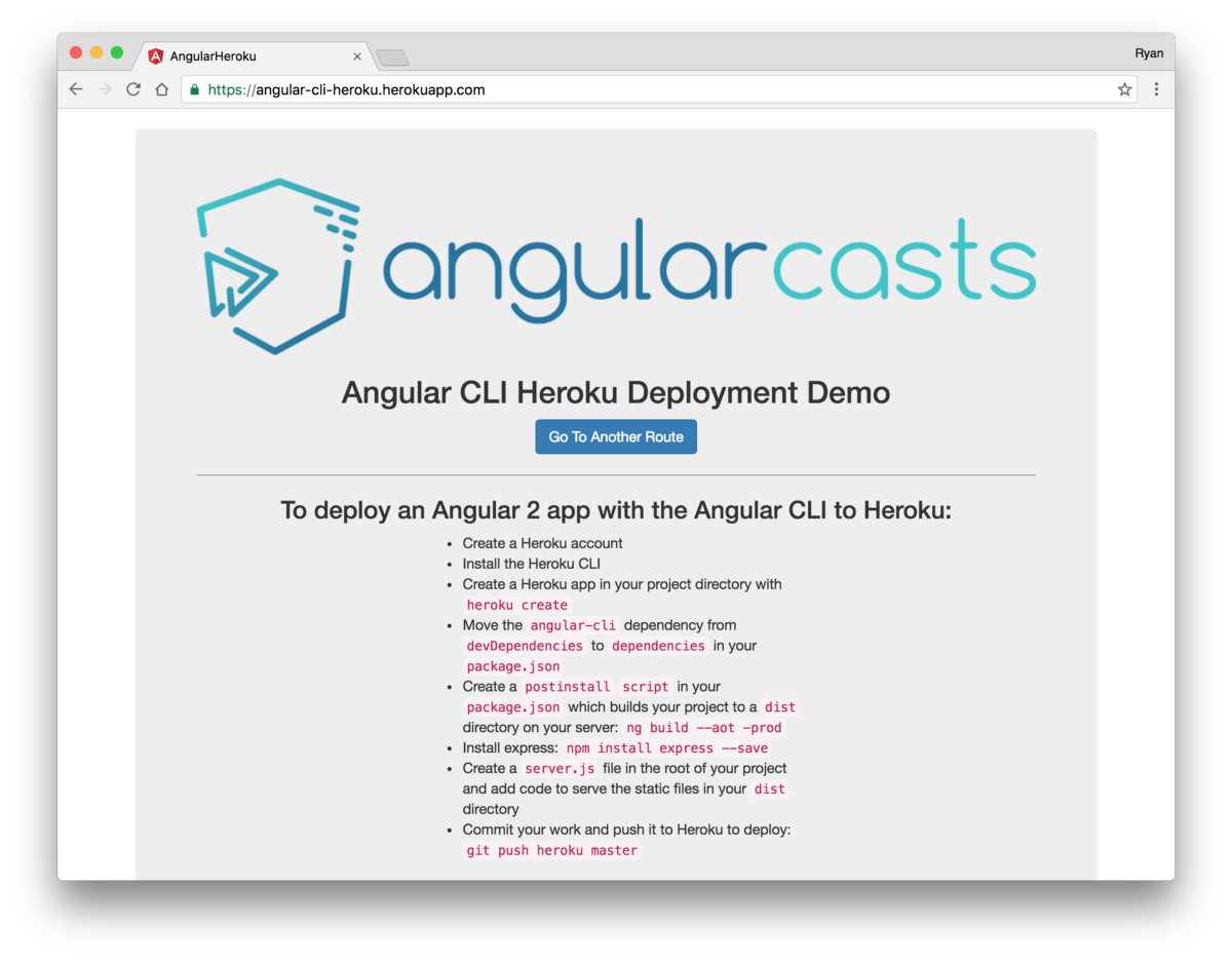 Angular CLI Deployment: Host Your Angular 2 App on Heroku