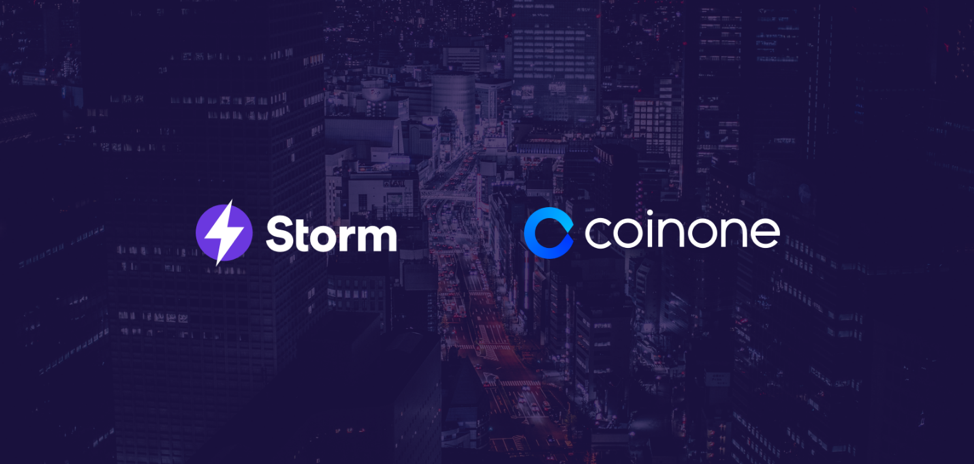 Coinone has listed STORM - The Storm