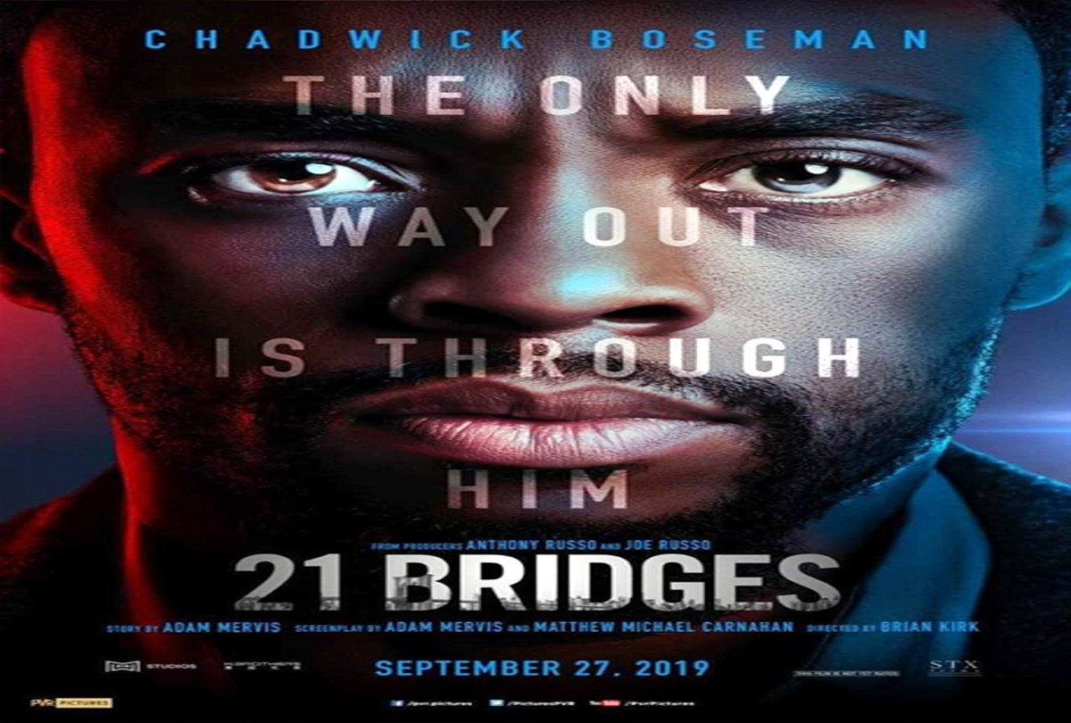 Chadwick Boseman And The Russo Brothers S 21 Bridges Movie Poster By News Plus 24x7 Medium