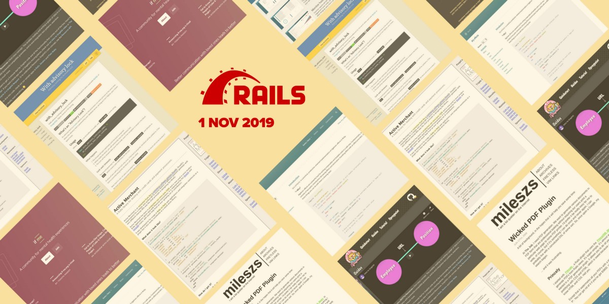 25 most popular Ruby/Rails repositories on GitHub in October 2019