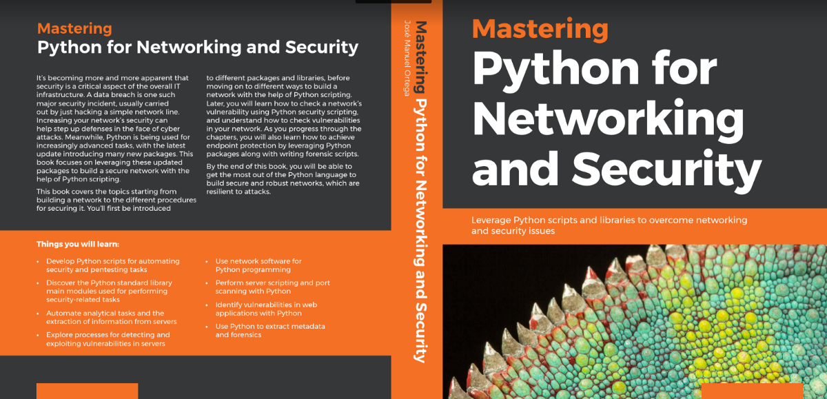 Book Review: Mastering Python for Networking and Security